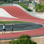 Unique running track in Spain features a hill (15 images)