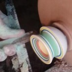 Mesmerizing video of a jawbreaker on a lathe (1 video)