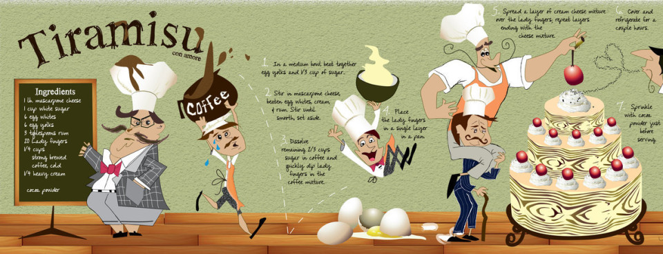Illustrated recipes make cooking fun (17 images)